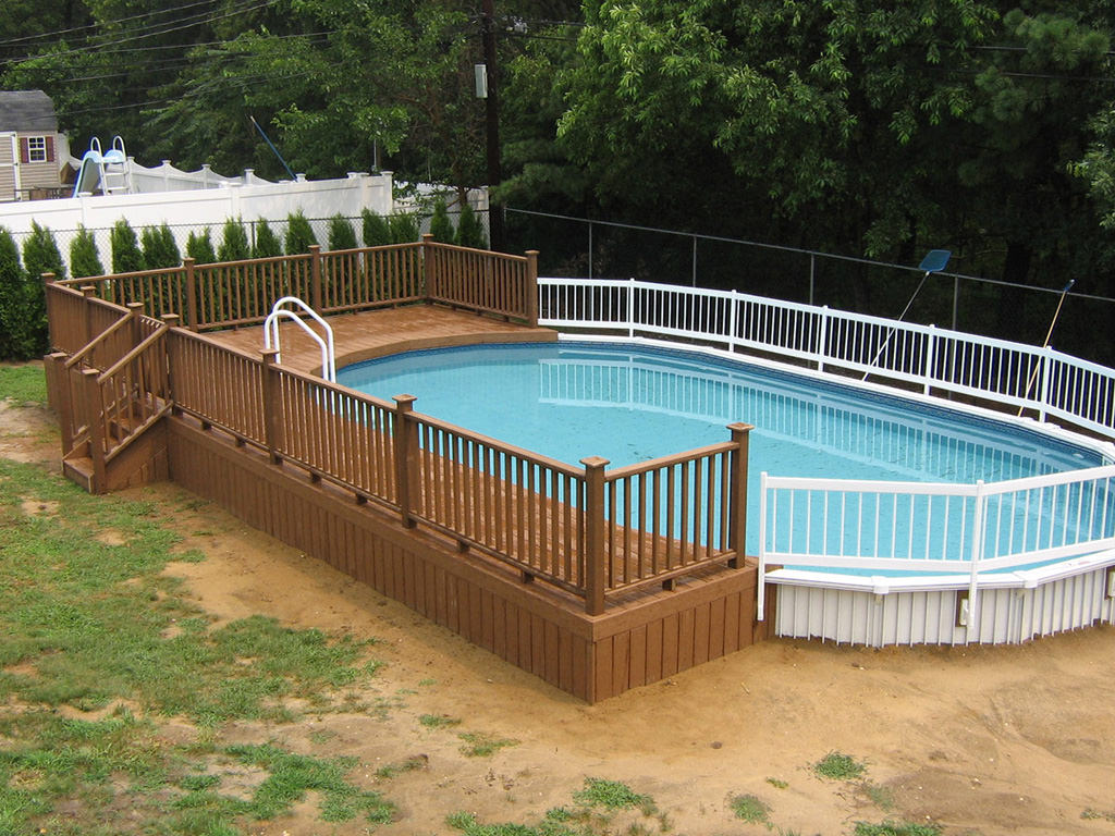 above ground pool decks oval above ground pool with deck mfwezlp