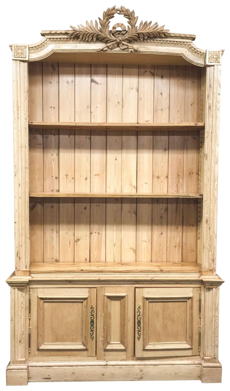 antique french pine bookcase ewgfpbx