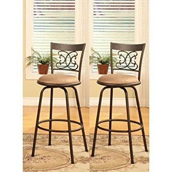 bar stools with backs bronze finish scroll back adjustable metal swivel counter height bar stools  (set dufhybw