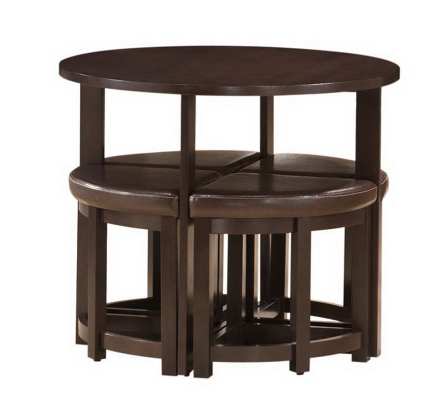 bar table and chairs baxton studio rochester brown modern bar table set with nesting stools qakcbtb