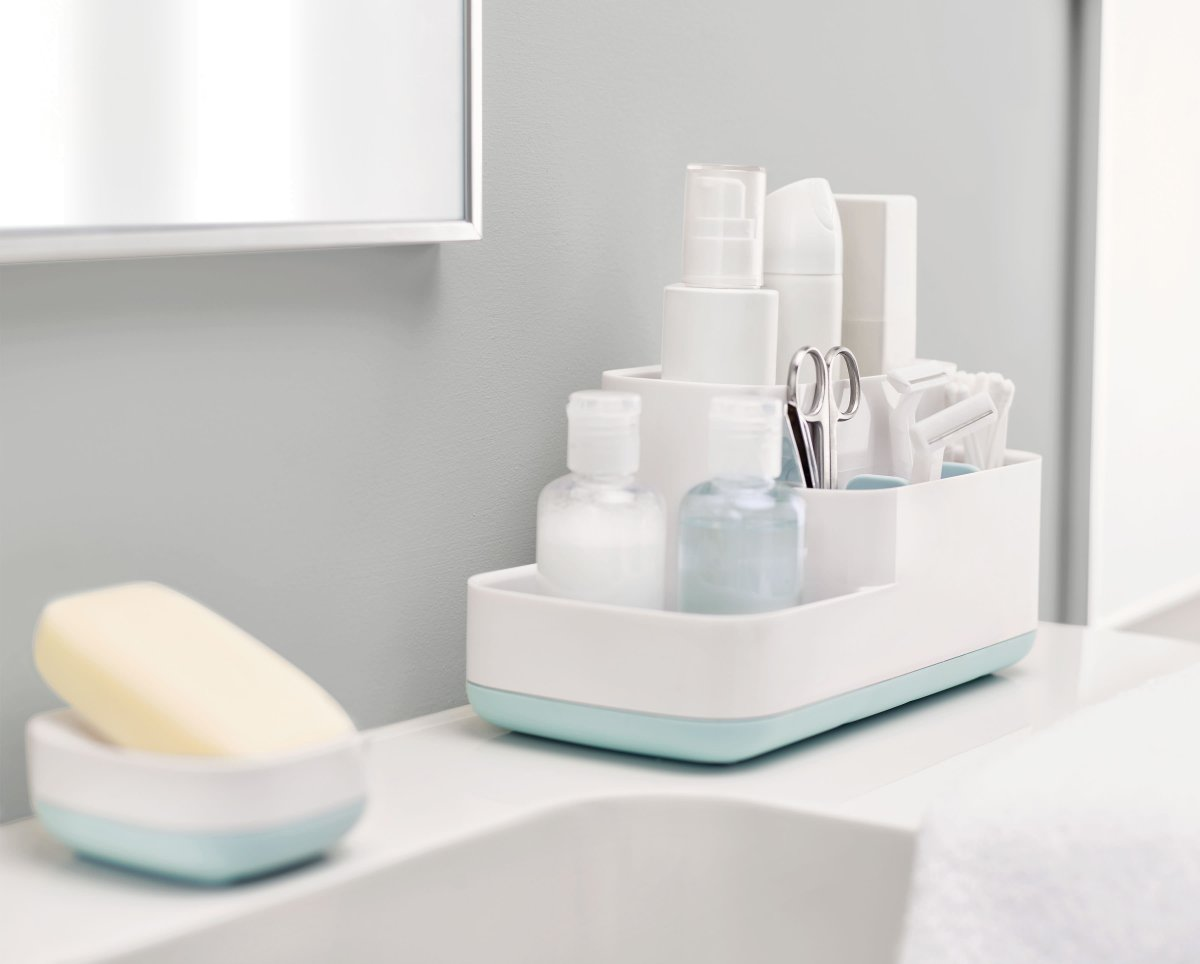 Shower and bath at peace knowing your toiletries are well placed in a bathroom caddy