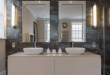 bathroom mirror ideas collect this idea double-mirror-granite-bathroom nzhtwvc