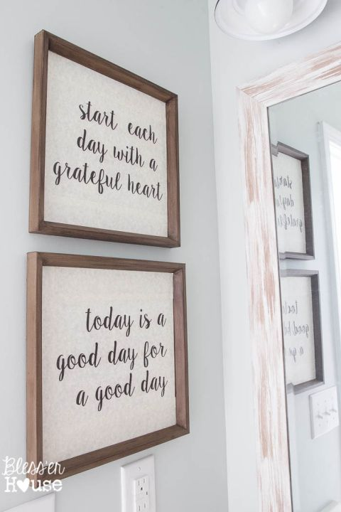 bathroom wall decor modern farmhouse bathroom makeover reveal nxqcuao