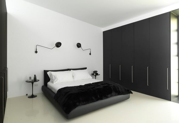black and white bedroom home decorating trends - homedit ntmvzou