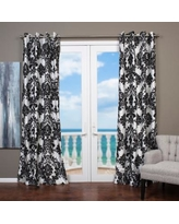 black and white curtains lambrequin venetian grommet top 84-inch curtain panel in black/white(as is tlwpafc
