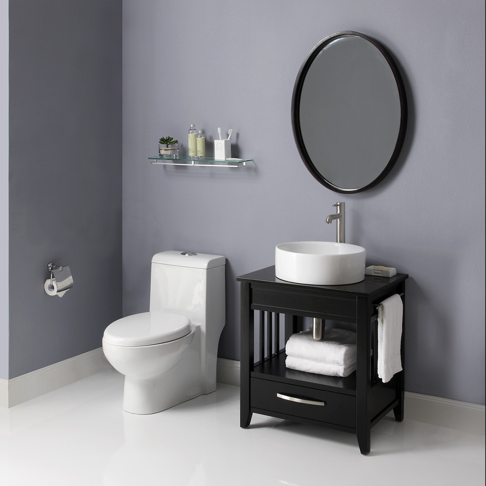 Nice black bathroom vanity