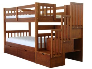 bunk beds with stairs bedz king stairway bunk twin over twin bed with 3 drawers in the kpuqbml