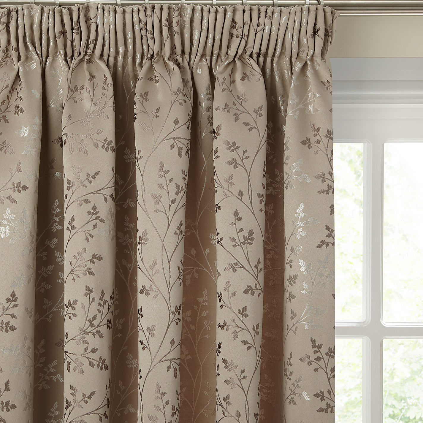 buy john lewis botanical field lined pencil pleat curtains online at  johnlewis.com bqwxnzx