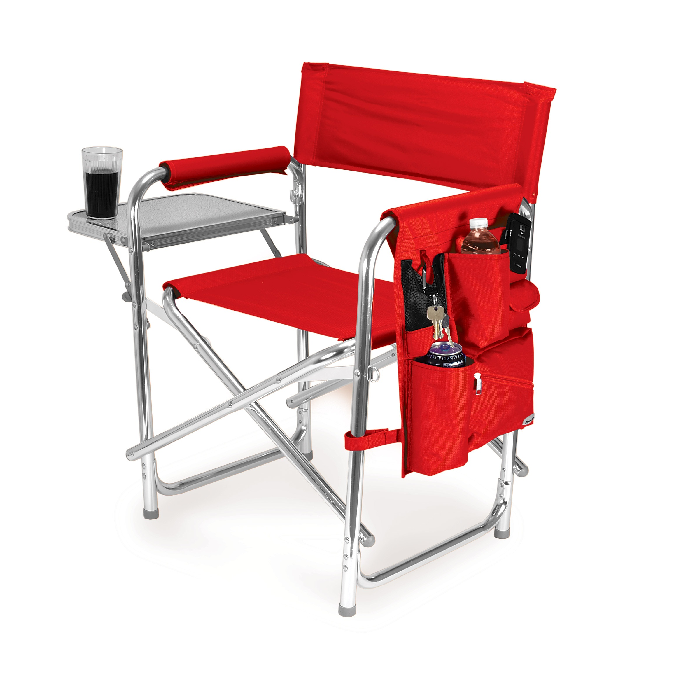 camping chairs picnic time red portable folding sports/camping chair nkvqwqf