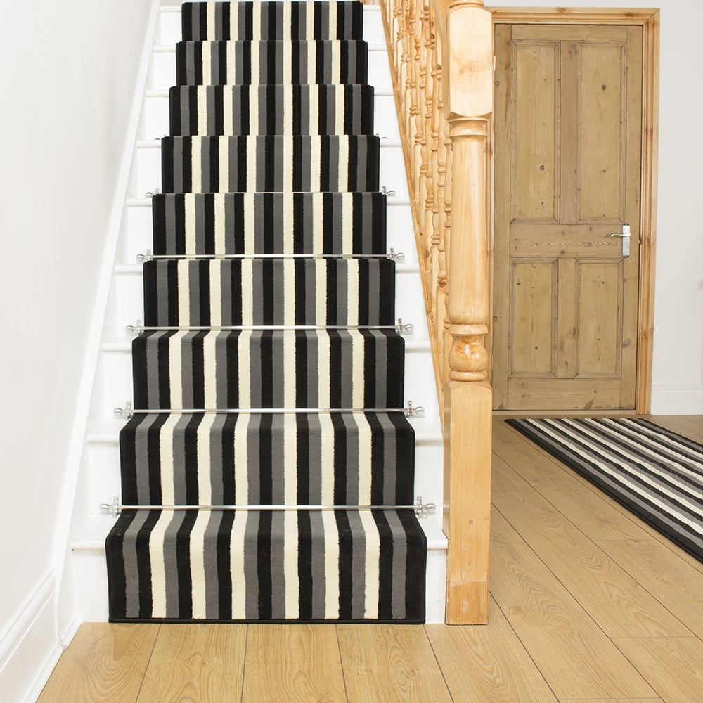 carpet runner broad 10 black, grey u0026 cream stair runner oxrbgts