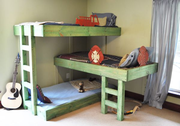 childrens bunk beds hand-crafted triple bunk beds for the kids ibivrpy