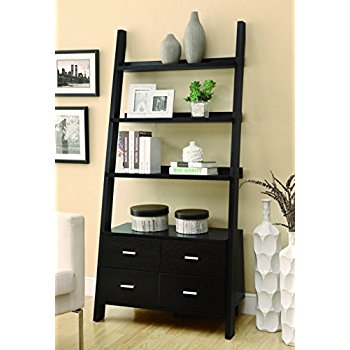 coaster 800319 home furnishings ladder bookcase, cappuccino wzoglbd
