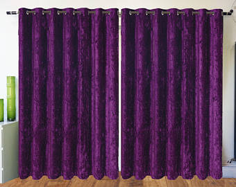 crushed velvet curtains eyelet ring top fully lined designer curtains purple qlhybua