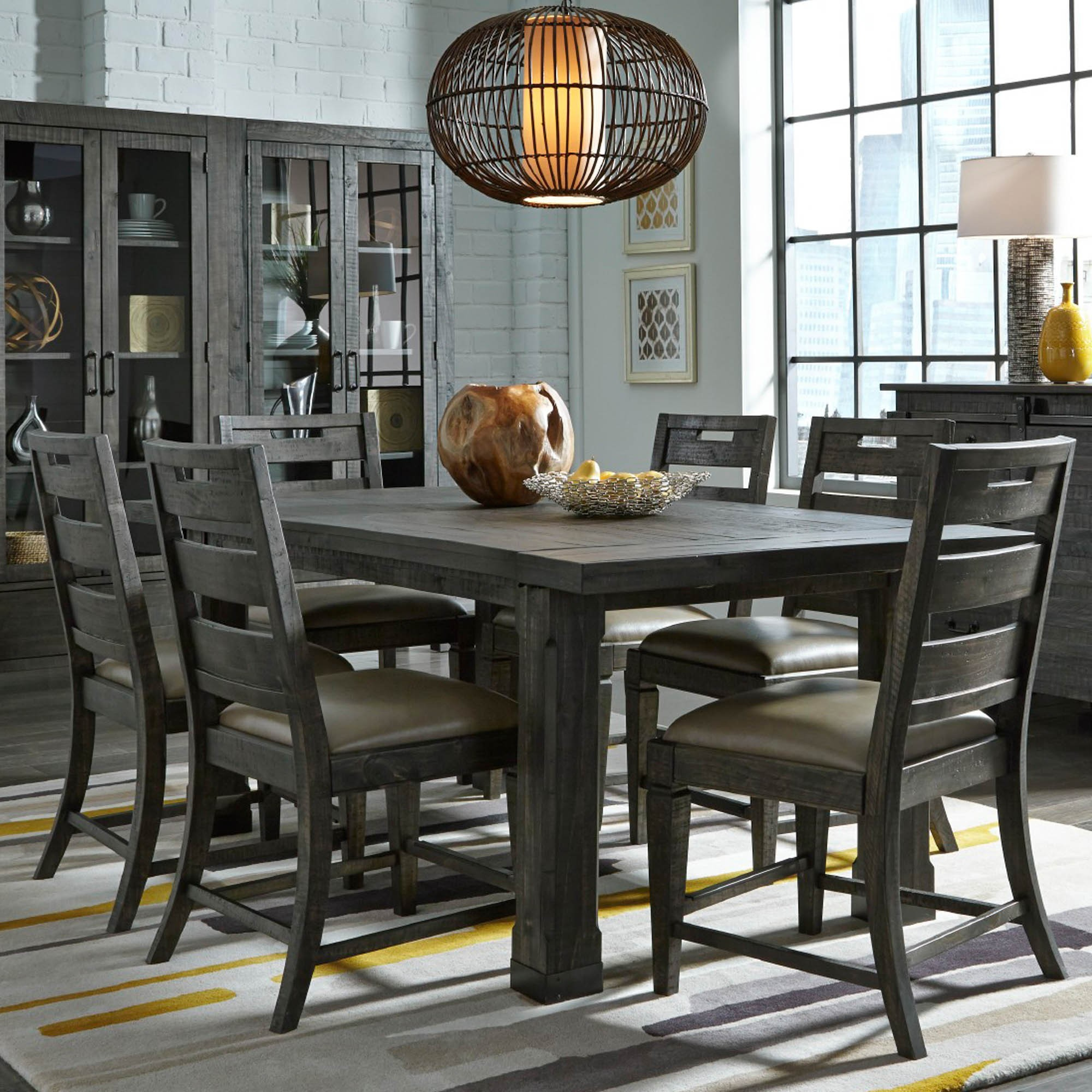 dining room sets abington 7 piece dining room (table with 6 side chairs) xefjojz