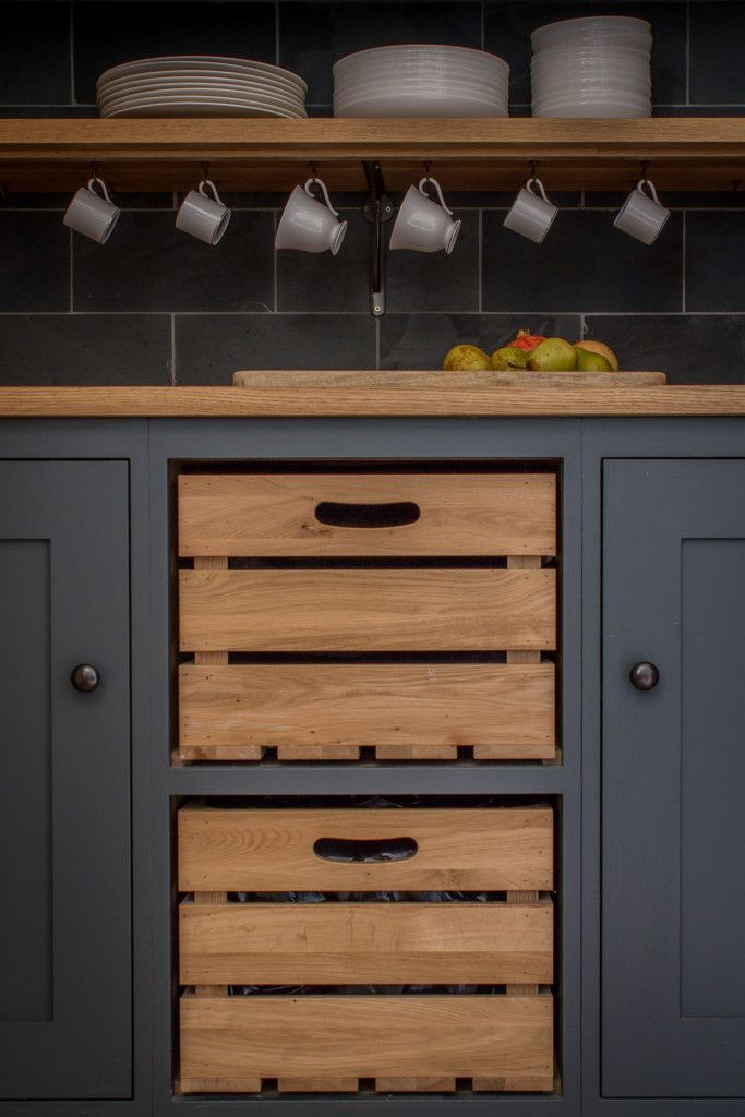 diy kitchen cabinets and hereu0027s a more refined version of the crates-as-kitchen drawers idea  shown mfvqyvq