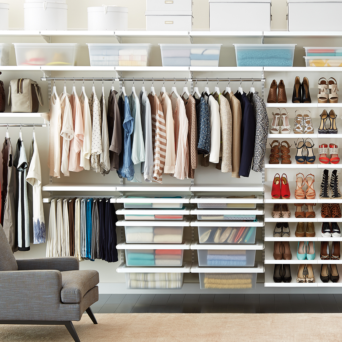 Most functional and attractive elfa closet