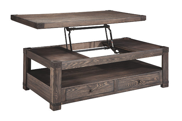 fully extended lift top weathered look coffee table pjxouil