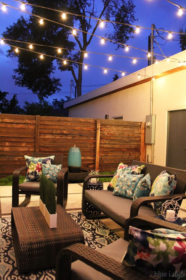 how to hang patio string lights! commercial grade string lights are ideal udnbtkj