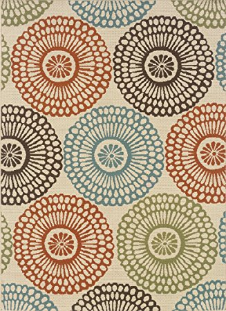 indoor outdoor rugs granville rugs monterey indoor/outdoor area rug, multi, 6u0027 7 x 9 fmzfbew