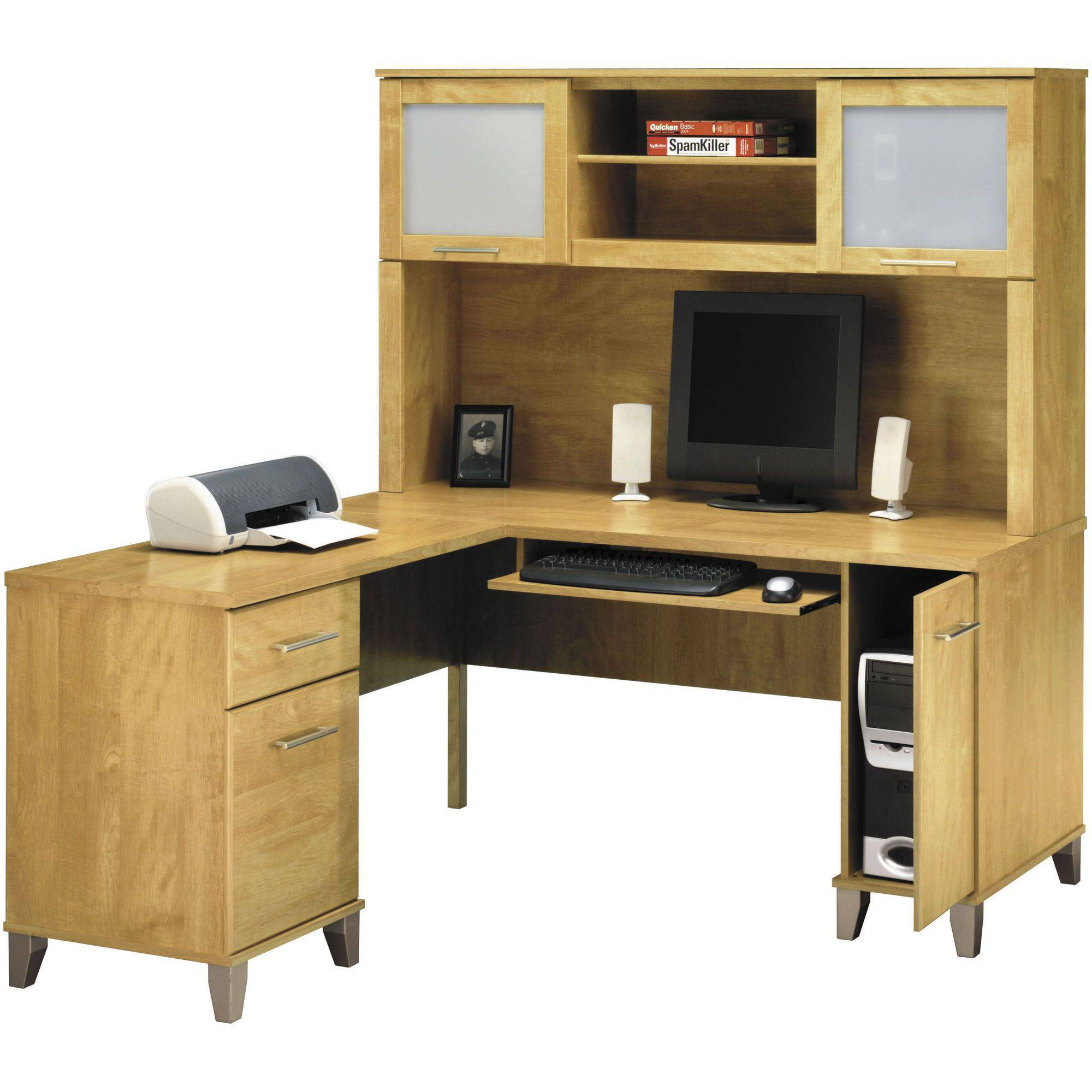 l shaped computer desk bush somerset 60 aoqvkkd
