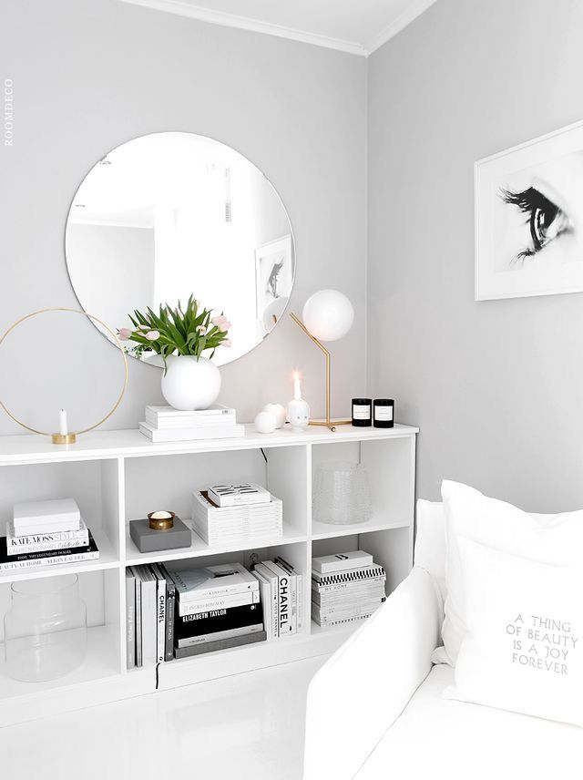 light grey paint color with white furniture and decor for a clean, open ybkuxjz
