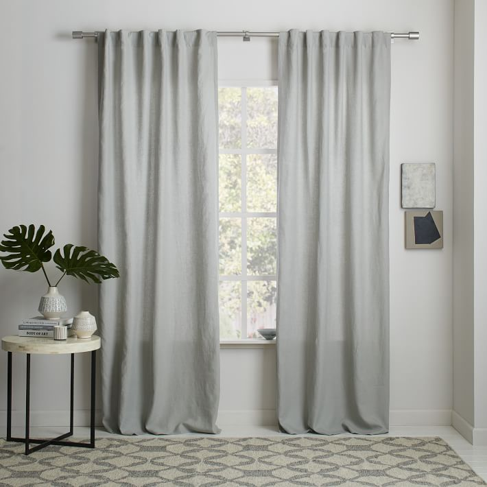 linen curtains belgian flax linen curtain - white | west elm ghsvrbf