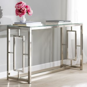 mirrored console table mirrored console tables youu0027ll love | wayfair lsockuf