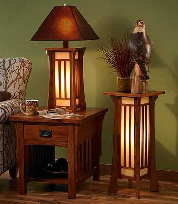 mission style furniture craftsman style lighting.like the end table and the table lamp jsxwson