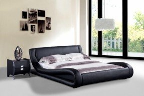 modern beds dona faux leather modern bed epwlrvb