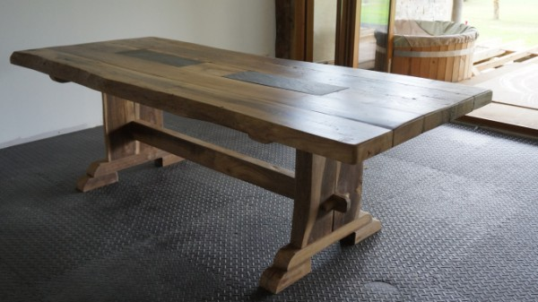 nicolas made this reclaimed wood table as a birthday present. ktfkckf