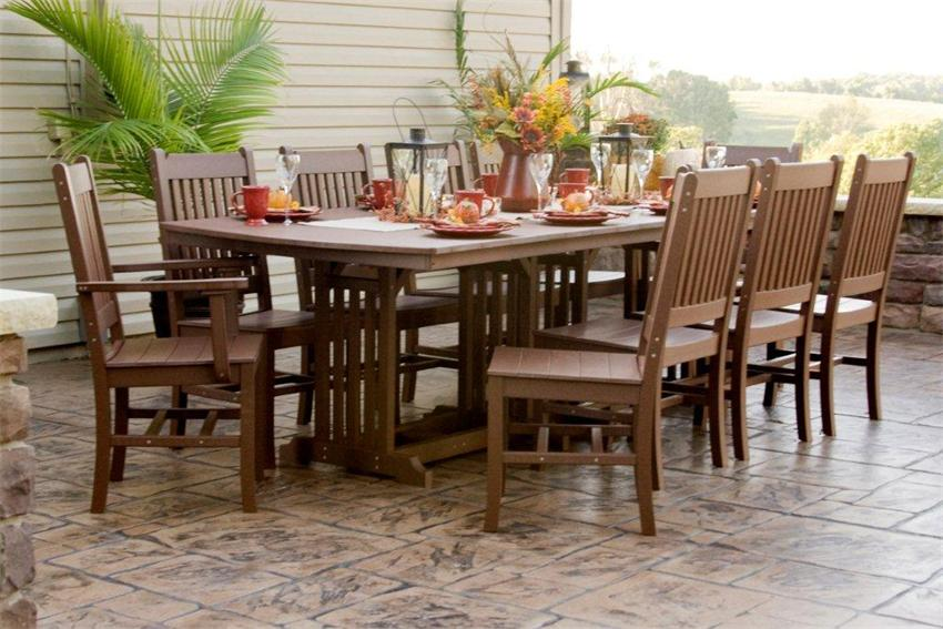 outdoor dining table amish made outdoor dining tables ljxahwc
