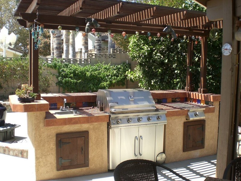 outdoor kitchen ideas 1. barbecue grill and prep station ekpejab
