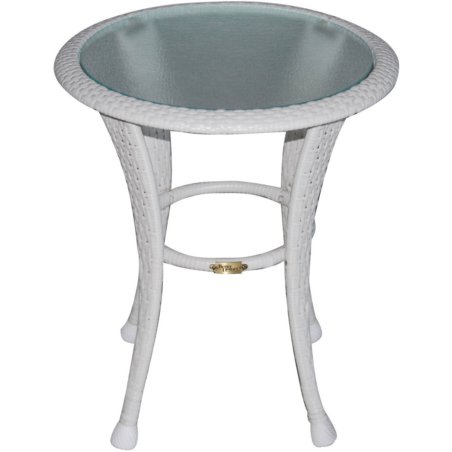 outdoor table better homes and gardens azalea ridge outdoor side table, white -  walmart.com zwbwivf