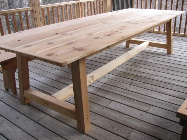 outdoor table large outdoor dining table - cedar...i really like long tables. llhxend
