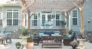 patio decorating ideas see how we transformed our boring back yard with the addition of a spupegk