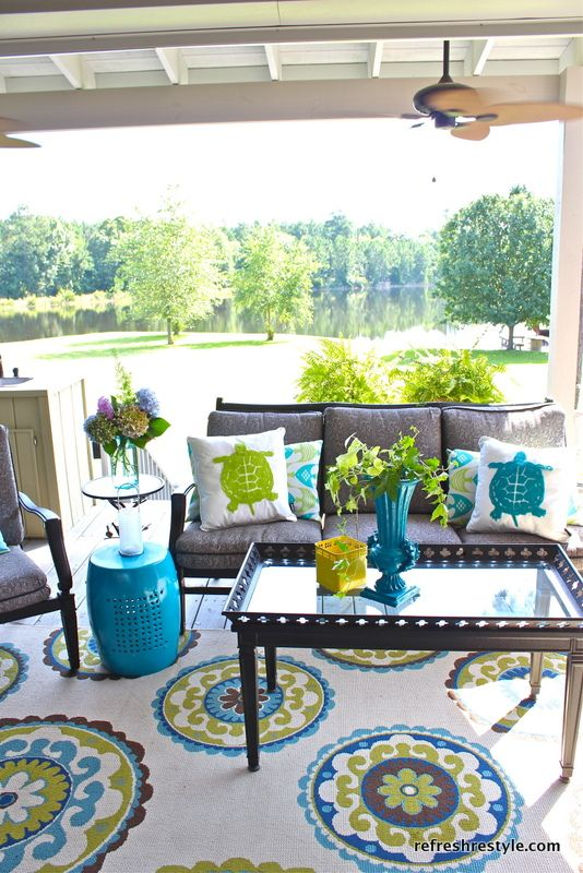 patio rugs how to refresh your porch retzlof
