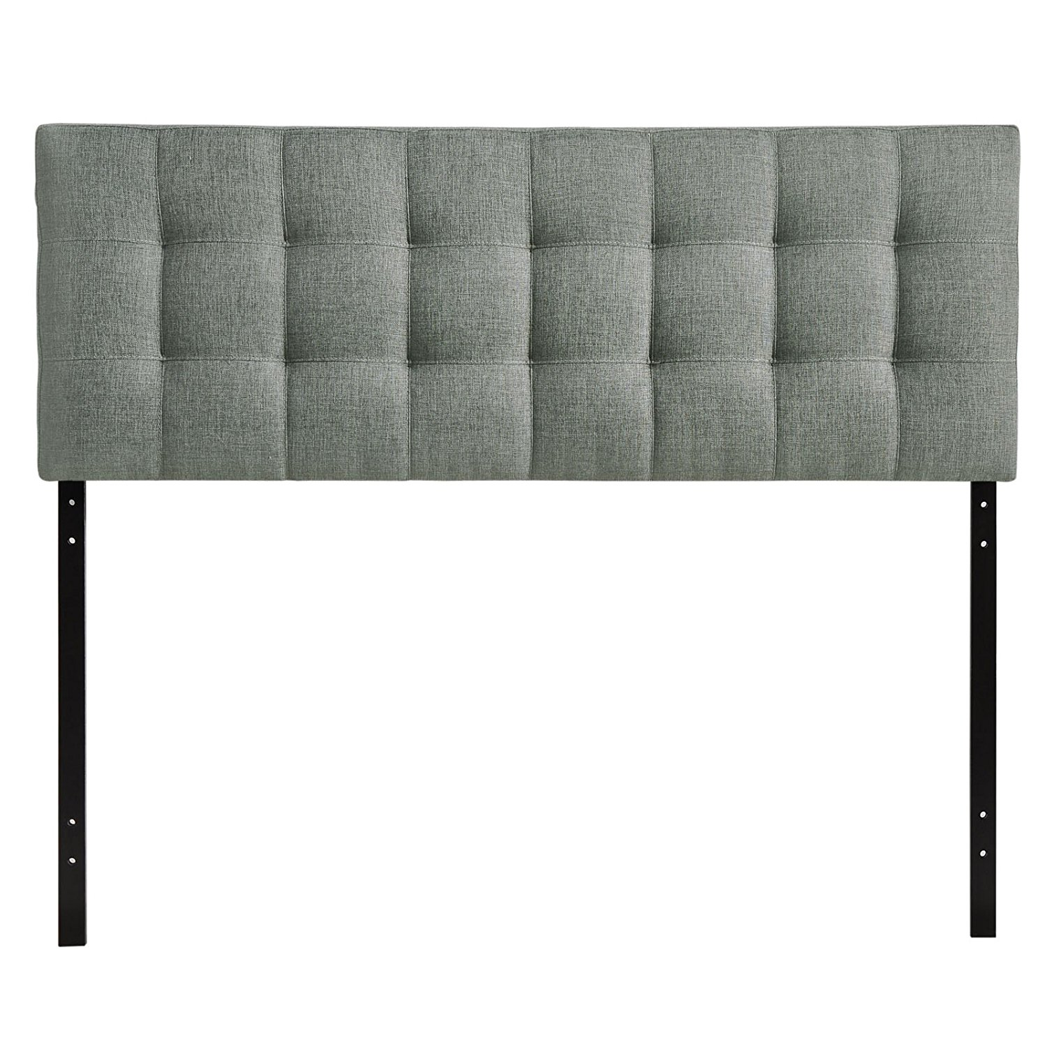 queen size headboards modway lily upholstered tufted fabric headboard - queen size in gray fthuepc
