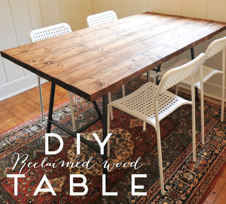 reclaimed wood table a new bloom: diy reclaimed wood dining table yuqwapd