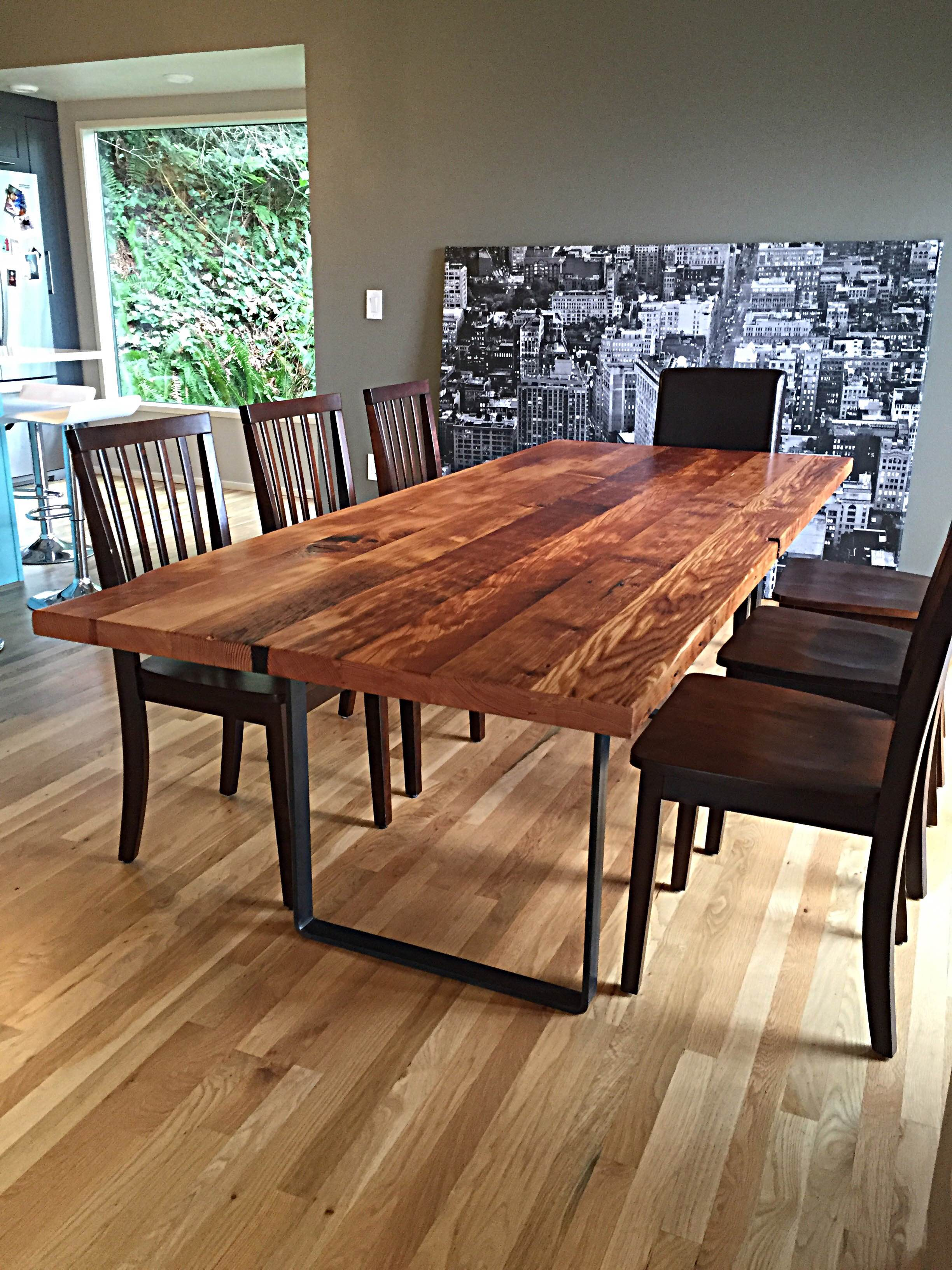 reclaimed wood table fremont reclaimed douglas fir dining table - stumptown reclaimed | reclaimed  wood laectpk