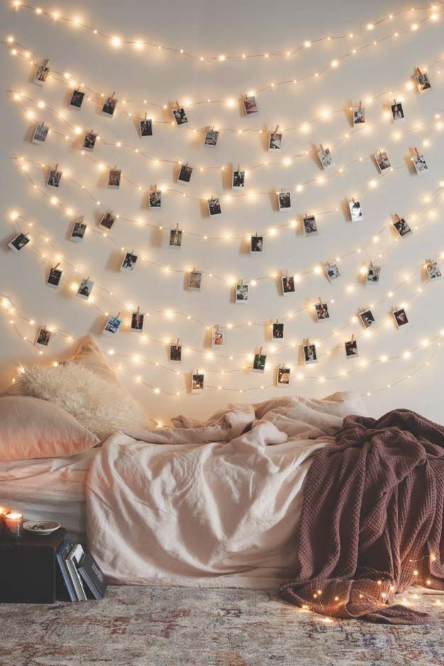 room ideas 40 cool diy ideas with string lights jrqgnuh