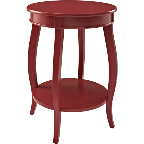 round side table with shelf, multiple colors jqgjrta
