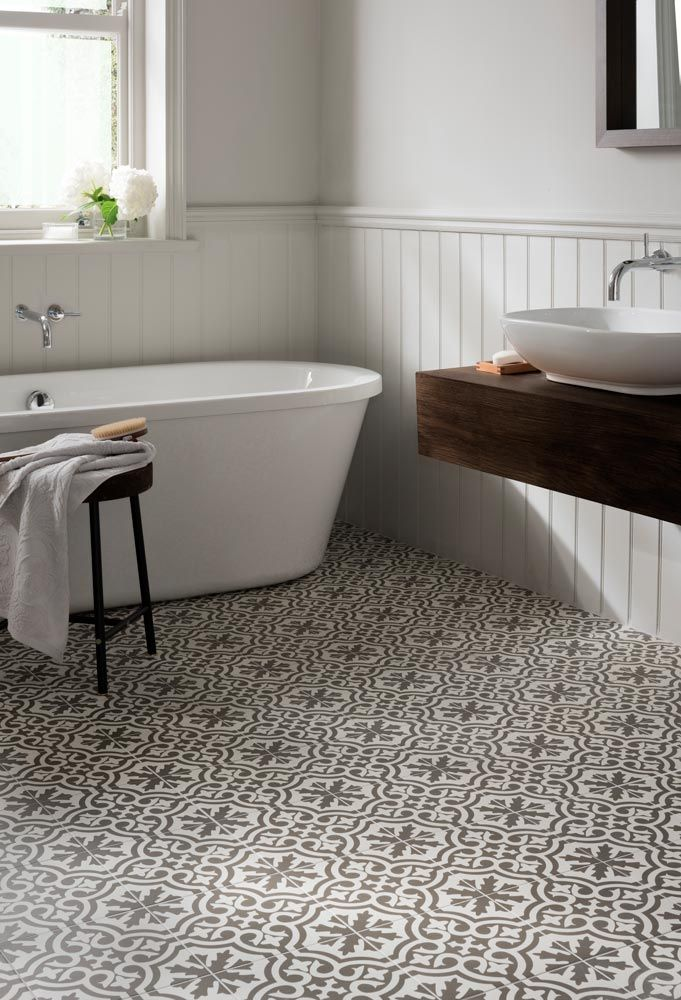 spanish-style patterned bathroom floor tiles, an easy way to decorate from  www. abbncke