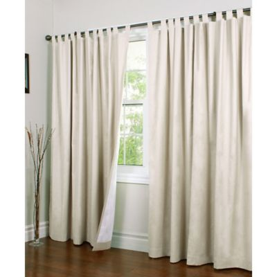 tab top curtains thermalogic® weathermate 84-inch double-wide tab top window curtain panel  pair in guzxfax