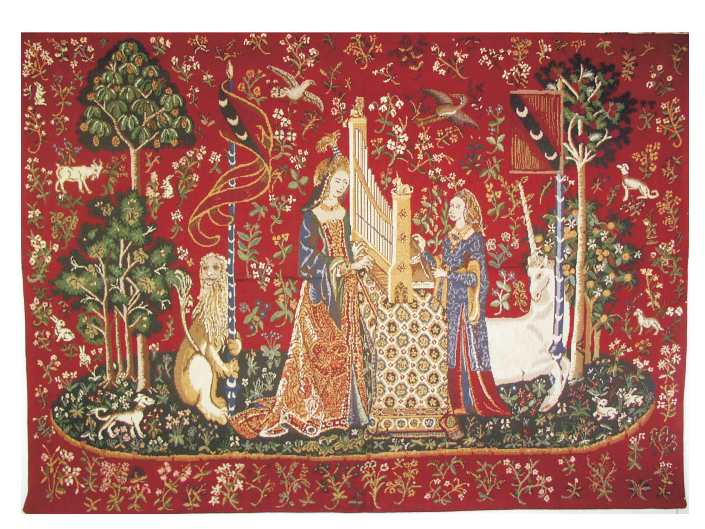 tapestry wall hangings the lady and the organ ii european tapestry wall hanging, h34 lrehooe