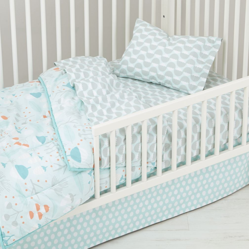 toddler bedding sets well nested toddler bedding (blue) | the land of nod yuvczcw