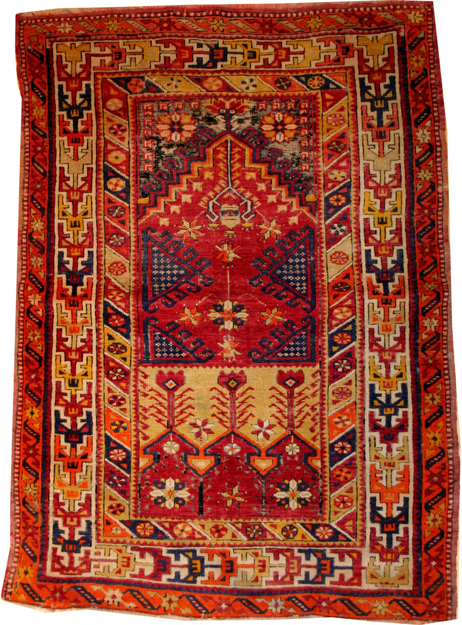 turkish rugs name: ladick dimension: 3ft 5in by 5ft 4in from: turkey age: late 1900 dlkkyuy