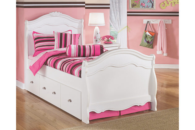 twin beds for kids twin trundle bed pulled out and shown with pink bedding qaccdqr