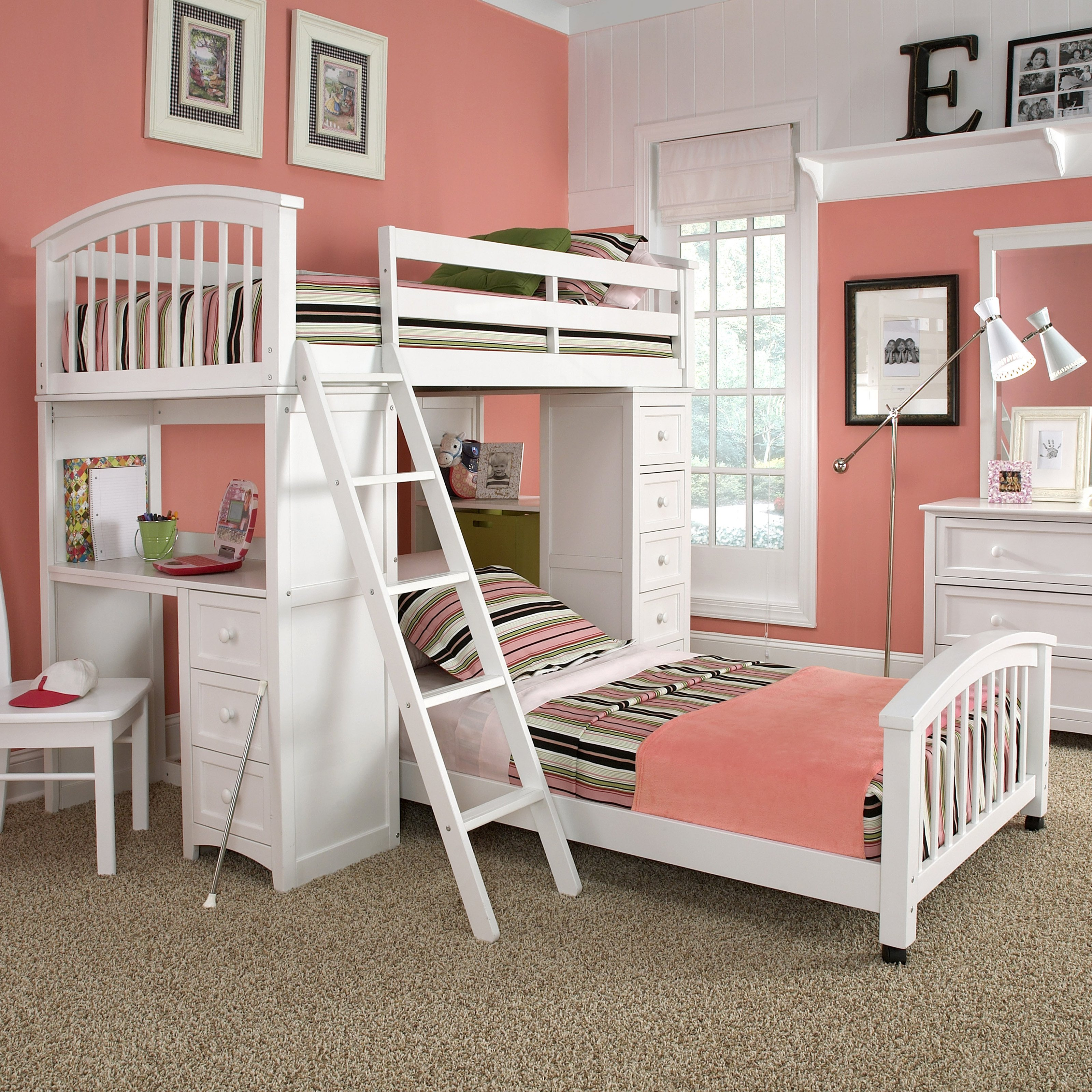 White beds for teens