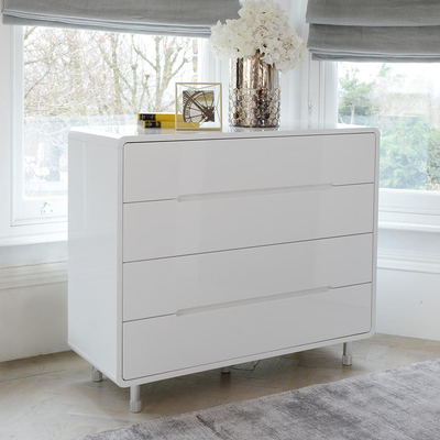 white chest of drawers notch wide chest of drawers white yoopjnr
