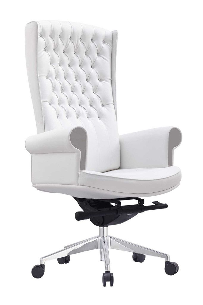 white office chair whiteline napoleon executive high back office chair esbpgvd
